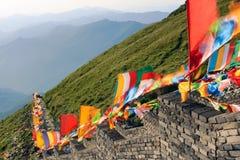 Buddistiskt berg Arkivbild