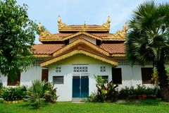 buddistiskt burmese tempel arkivfoto
