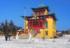 buddistiskt buryatia russia tempel Royaltyfria Foton