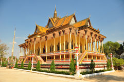 buddistiskt cambodia tempel Arkivfoto