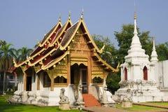 buddistiskt Chiang Mai tempel Royaltyfri Fotografi