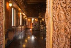 buddistiskt detaljtempel Arkivbild