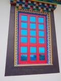 Buddistiskt fönster Fotografering för Bildbyråer