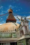 buddistiskt kathmandu tempel Royaltyfri Foto