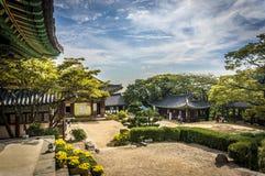 buddistiskt koreanskt tempel Arkivfoto