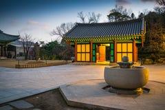 buddistiskt koreanskt tempel Royaltyfri Bild