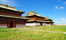buddistiskt mongolia tempel Arkivbild