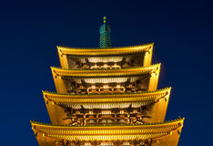 buddistiskt nattsensojitempel Royaltyfri Foto