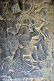 Buddistiskt snida Arkivfoton