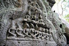 Buddistiskt snida royaltyfri illustrationer