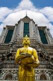 Buddistiskt ställe i tempel på Chetuphon Arkivfoto