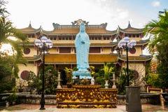 buddistiskt tempel buddha diagram sitting vietnam Da Nang Royaltyfri Bild