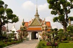 Buddistiskt tempel i Bangkok Arkivbild