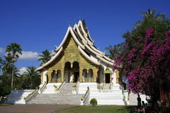 Buddistiskt tempel, Luang Prabang, Laos Arkivfoton