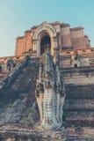 buddistpagod i Chiang Mai, Thailand Arkivfoto