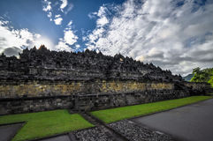 Buddisttempel Borobudur complex in Yogjakarta in Java Royalty-vrije Stock Foto