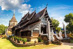Buddisttempel i Chiang Mai royaltyfri fotografi