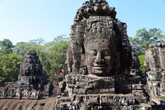 Buddla Face Angkor Wat Royalty Free Stock Photo