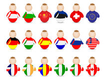 Buddy. With different countries flags royalty free illustration