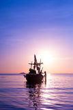 Buddy. Boats and fishermen and the sea royalty free stock photography