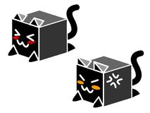 Buddy box neko Royalty Free Stock Image