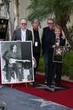 Buddy Holly, Gary Busey, Maria Elena Holly, Peter Asher, Phil Everly Stock Photos
