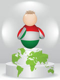 Buddy on podium. Hungarian buddy on global podium Stock Image