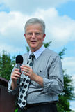 Buddy Roemer on Stage Royalty Free Stock Image