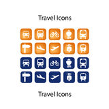 Buddy Travel Icons ICON SET. Travel vectorial icons with round corners and bold style vector illustration
