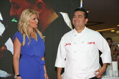 Buddy Valastro,TLC. Cake boss Buddy Valastro,the star of TLC channel, with his wife, on 1 June 2015,in shopping center Usce in Belgrade,Serbia,promoting new royalty free stock images