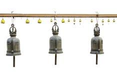 Buddyjscy dzwony w Wacie Saket, Bangkok (Złota góra) Zdjęcie Stock