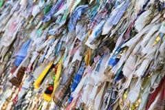 Buddyjscy faborki trzepocze w wiatrze Zdjęcie Stock