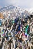 Buddyjscy faborki trzepocze w wiatrze Fotografia Stock