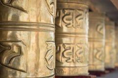 buddyjscy modlitewni kół Zdjęcie Royalty Free