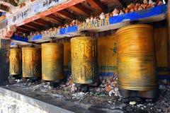 buddyjscy modlitewni koła Obrazy Royalty Free