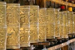 buddyjscy modlitewni koła Obrazy Stock