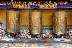 buddyjscy modlitewni koła Zdjęcie Stock