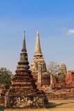 Buddyjscy stupas, Wata mahathat w Tajlandia obraz stock