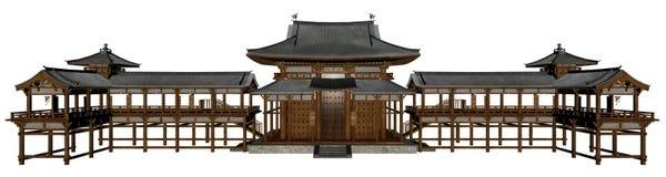 buddyjska świątynia royalty ilustracja
