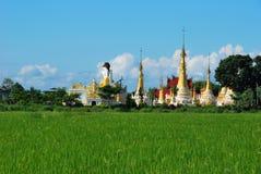 Buddyjska świątynia blisko Inle jeziora, Myanmar Obrazy Royalty Free