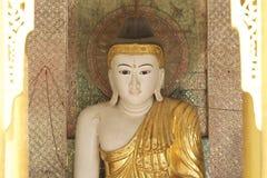 Buddyjska świątynia powikłany Shwedagon jest dziejowym symbolem buddyzm, Myanmar Obrazy Stock