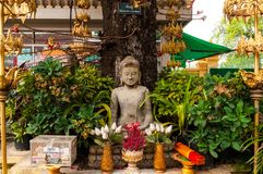 Buddyjska świątynia przy Phnom Penh Royal Palace, Kambodża obrazy stock