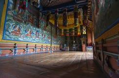 Buddyjska kaplica Jakar Dzong, Bumthang dolina, Bhutan zdjęcie royalty free