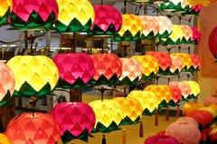Buddyjska lotosowa lampa, adobe rgb Zdjęcie Stock