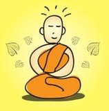 Buddyjska medytacja wektoru ilustracja Obrazy Royalty Free