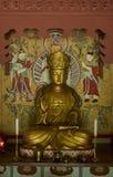 Buddyjska modlitewna statua w Pohyon świątynny Północny Korea Zdjęcie Stock