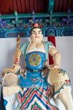 Buddyjska opiekun statua przy wejściem Daxiangguo świątynia, Kaifeng, Chiny Obrazy Royalty Free