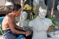 buddyjska postać przywrócić Zdjęcia Stock