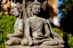 Buddyjska rzeźba blisko Swayambhunath Zdjęcie Royalty Free