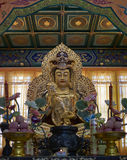 Buddyjska statua w Zhanshan świątyni, Qingdao Fotografia Royalty Free